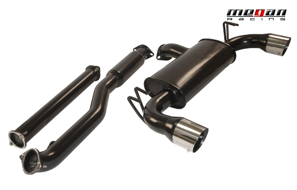 Megan Racing Mitsubishi Evo X Type 2 Black catback exhaust