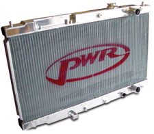 PWR Aluminum Radiator EVO VIII and IX 40mm and 57mm