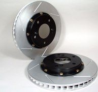 Stoptech 2-Piece Aerorotors for stock Brembo calipers for the Evo 8 and 9 Front Only